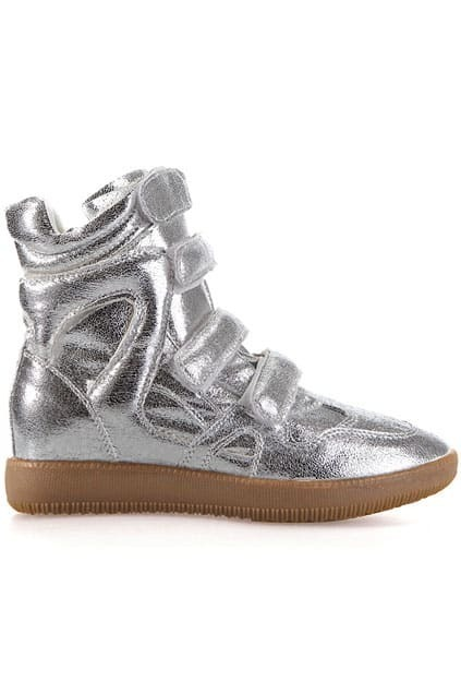 Velcro Straps In Elevator Shoes Silver Ankle Boots