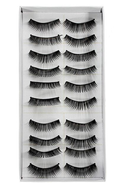 10 Pairs Fashion Black Long Volume False Eyelash Eye Makeup 006
