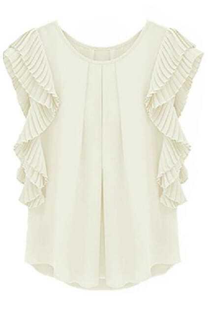 Layered White Blouse
