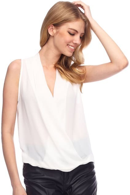 Draped White Shirt