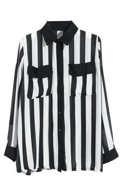 Striped Black-white Shirt