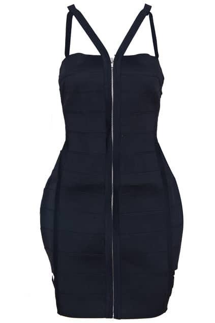 Elastic Slim Black Dress
