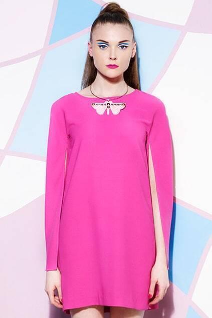 Splited Sleeve Rose Dress