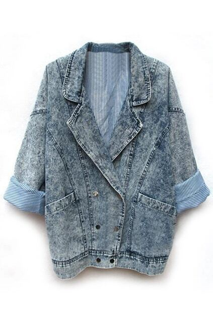 Oversized Light-blue Denim Coat