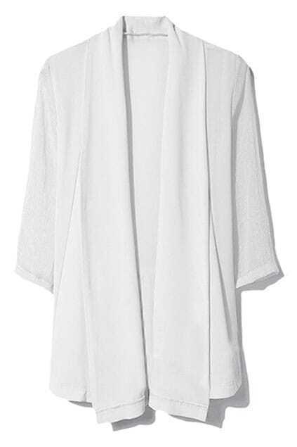 Color Block White Sunscreen Coat