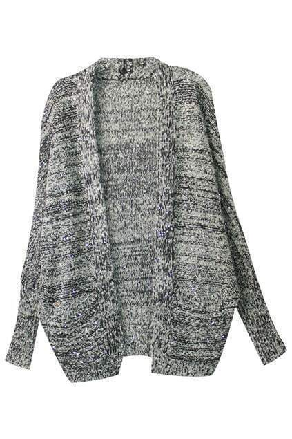 Oversized Sequined Grey Coat