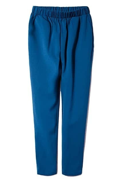 Solid Color Blue Pants