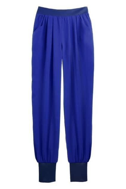 Low-waist Dark-Blue Pants