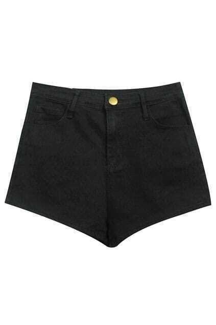 High Waist Black Shorts