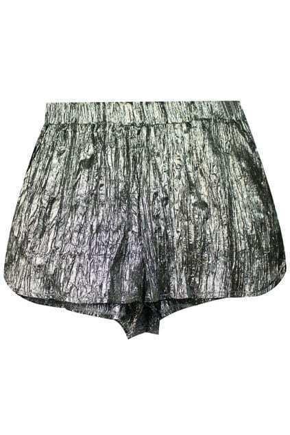 Split Hem Grey Matting Shorts