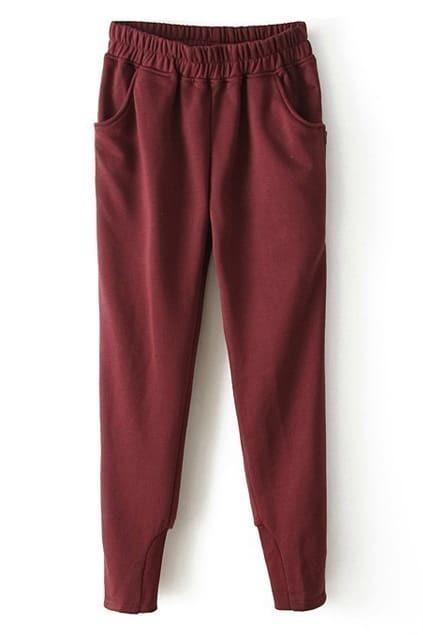 Narrow Legs Claret Pants