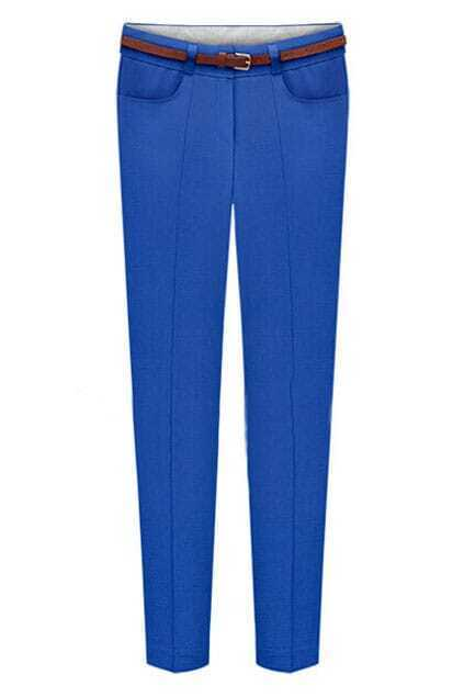 ROMWE Cropped Sheer Blue Pants