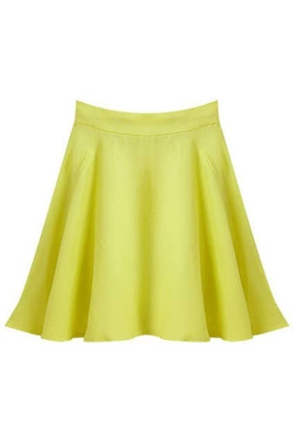 Flouncing Yellow Umbrella Skirt