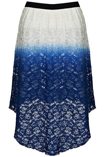 Dual-tone Asymmetric Gradient Color Skirt