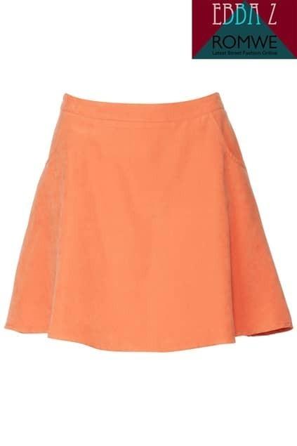 Smooth Orange Skirt