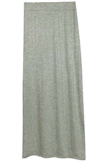 Split Hem Grey Skirt