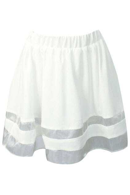 Organza White Puff Skirt