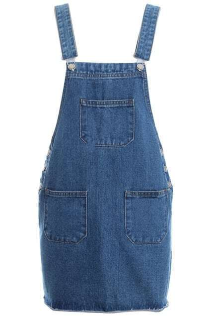 Loose Suspender Denim Skirt