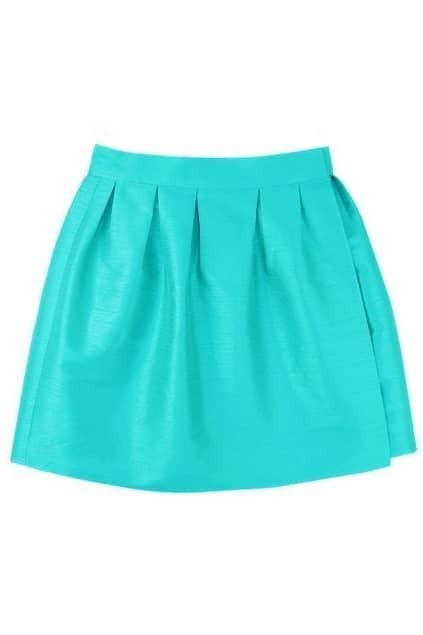 Blue Puff Bud Skirt