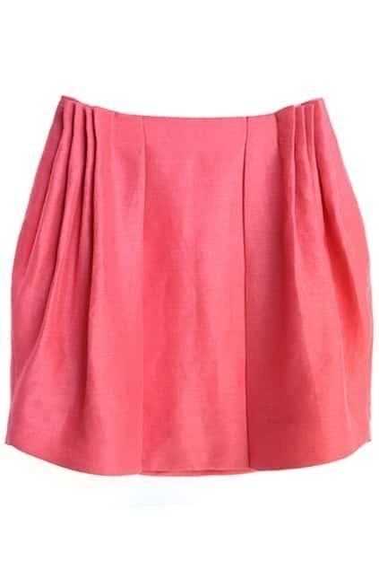 Pleated Elastic Rose Skirt
