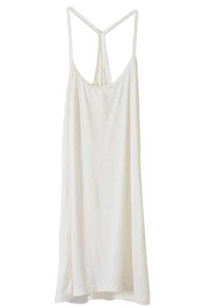 Slim White Vest