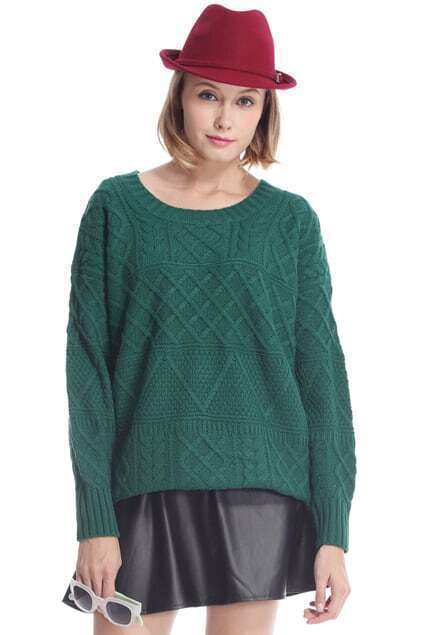 Loose Cable Green Jumper