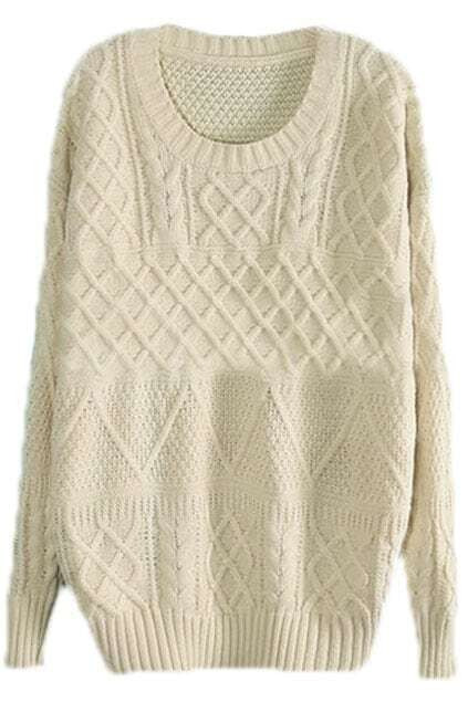 Loose Cable White Jumper