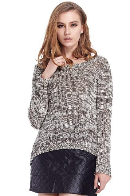 Distressed Asymmetric Grey Jumper