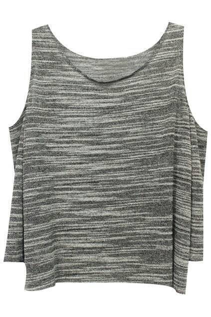 Off-shoulder Grey Textured Jumper
