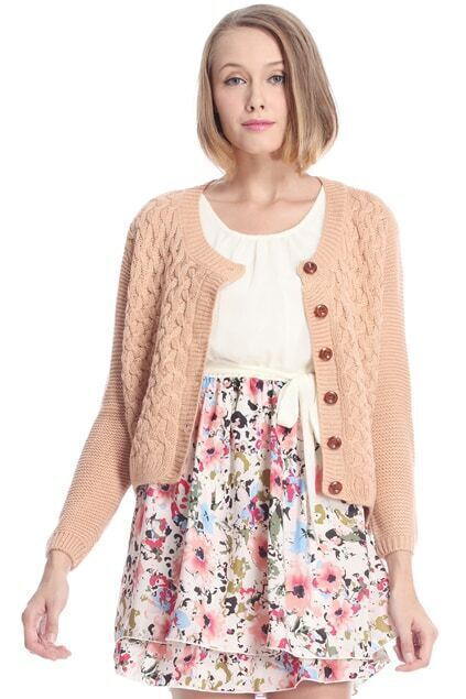 Elbow Patch Pink Cardigan