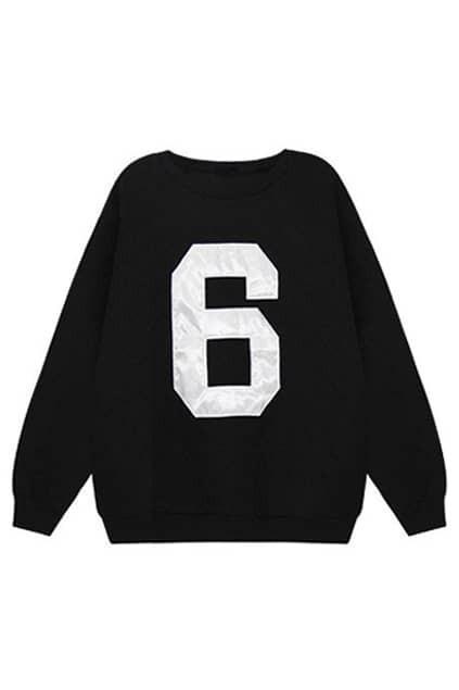 6 Print Grey Sweatshirt