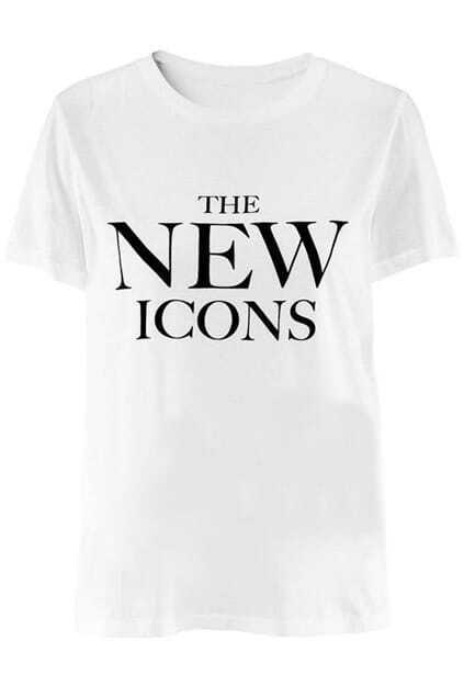 The New Icons Print White T-shirt
