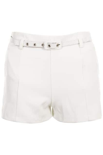 High-rise White Shorts