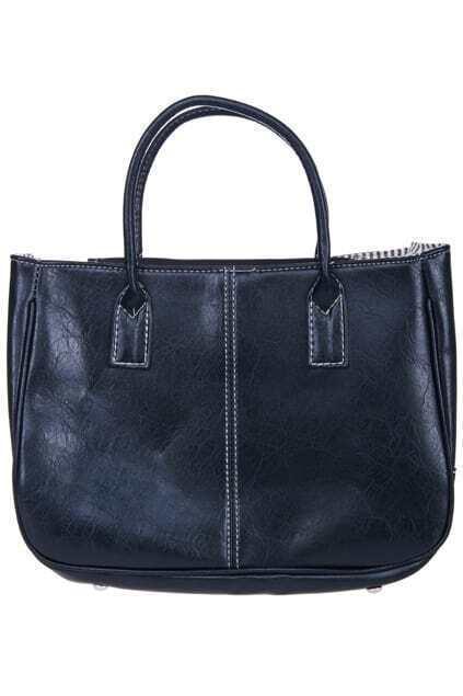 PU Leather Handbag Totes for Women Black