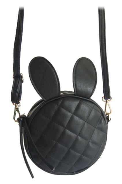 ROMWE Ribbit Ears Shaped Black Bag