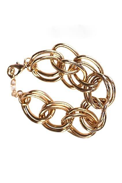 ROMWE Chian Shaped Golden Bracelet