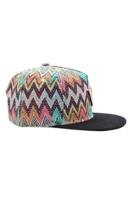 ROMWE Colorful Wave Print Baseball Cap