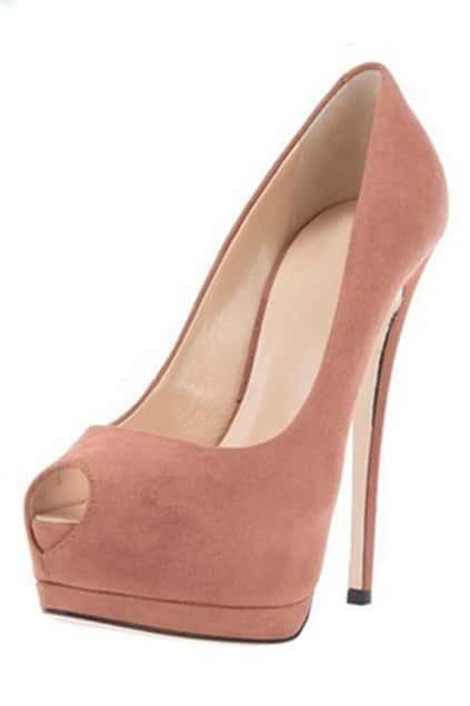 ROMWE Peep-toe Platform Pink Party High Heels