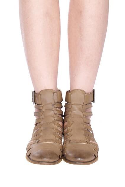 Romwe Distressed Gladiator Sandals