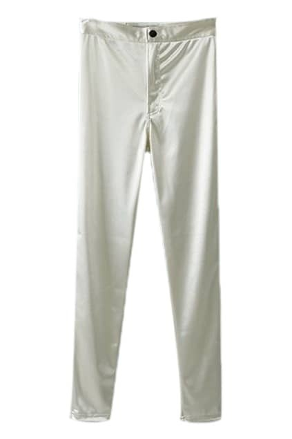ROMWE Slim Pocketed Sheer White Leggings