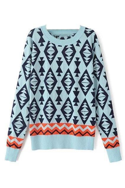 Dimond Knitted Blue Jumper