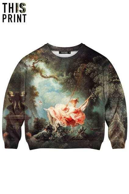 This Is Print The Swing Print Long-sleeved Sweatshirt