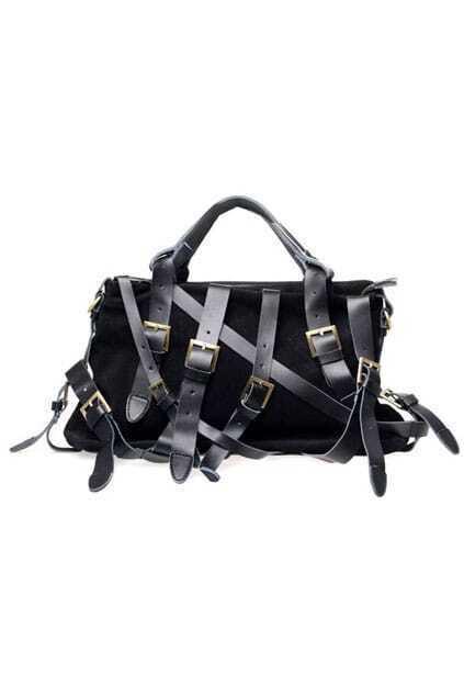 Anomalous Belt Binded Black Shoulder-bag