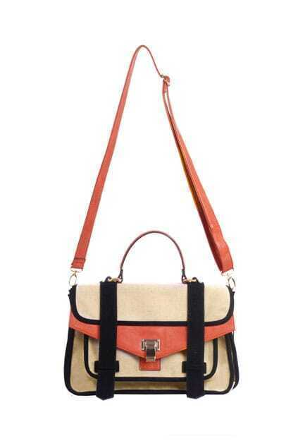 Contrast Orange Single Shoulder Bag