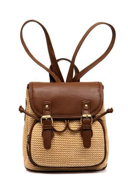 Retro Collegiate Brown Shoulders Bag