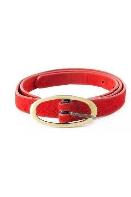 Hasp Red Slender Belt
