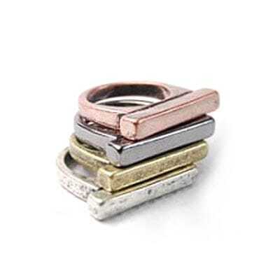 Punk Style Metal Color Ring