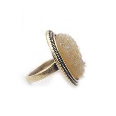 Anomalous Crystal Debris Copper Ring