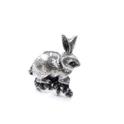 Retro Rabbit Shape Silver Ring