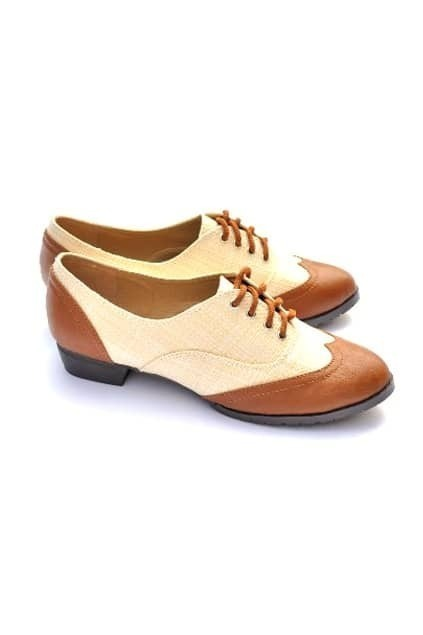 Antique Colors Montage Brown Flat Shoes